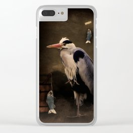 Heron's home Clear iPhone Case
