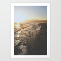 santa monica Art Prints featuring Santa Monica by Jake Boeve