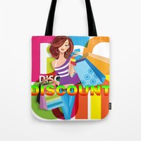 discount Tote Bags featuring Creative Title : DISCOUNT by Don Kuing
