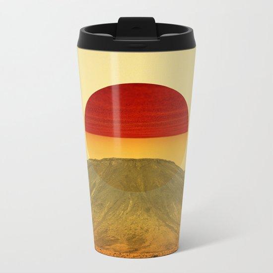 Warm abstraction Metal Travel Mug