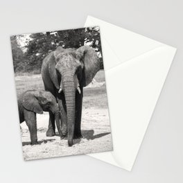 Elephant Mom & Baby Stationery Cards
