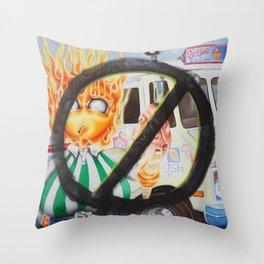 No Ice Cream for you Throw Pillow