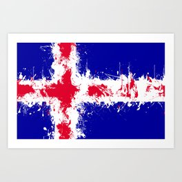 in to the sky, iceland Art Print