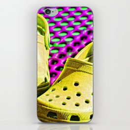 Pop Art Crocs By Sharon Cummings iPhone Skin