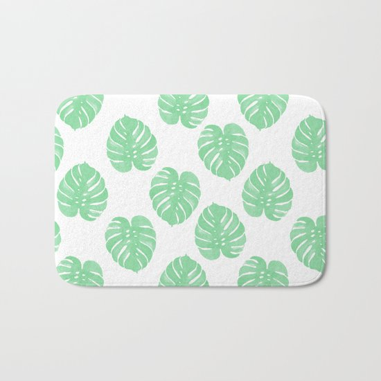 Palm Leaf indoor house plant hipster cheese plant palm leaf tropical vibes Bath Mat