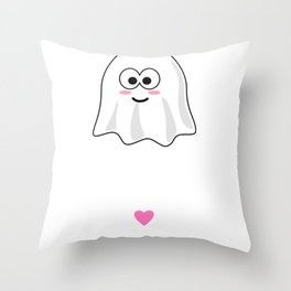 Hey Boo Tiful Cute Ghost Pun Throw Pillow