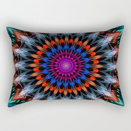 Full Bloom, multi-color design Rectangular Pillow