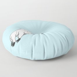 The majestic water bear Floor Pillow