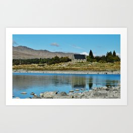 Lake Tekapo (church of the good shepherd) Art Print