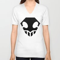 bleach V-neck T-shirts featuring Bleach Skull 2 by Prince Of Darkness