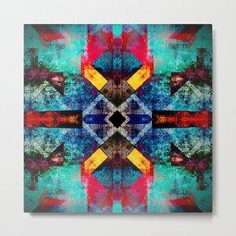 Bright southwestern pattern design Metal Print