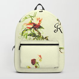 Born to Read Floral Backpack