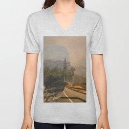 Scenic Mountainside Drive 1 Unisex V-Neck