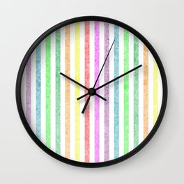 Rainbow lines with effect Wall Clock