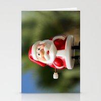 santa Stationery Cards featuring Santa by Gal Ashkenazi