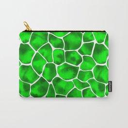 Watercolor Giraffe's Spots (Green) Carry-All Pouch