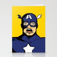 bucky Stationery Cards featuring bucky!cap by zombietonbo