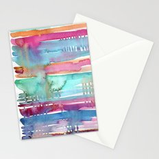 Water Stripes Stationery Cards