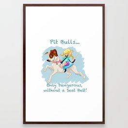 Pit Bulls... Framed Art Print
