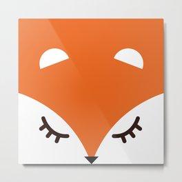 Fox minimal Metal Print