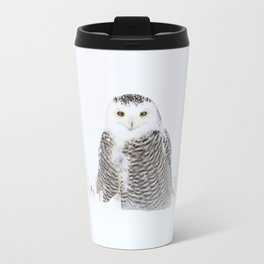 White on white Travel Mug