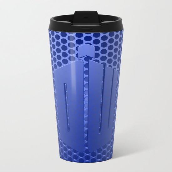 Tardis Logo Metal Travel Mug