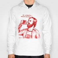 anchorman Hoodies featuring Anchorman: Milk was a Bad Choice by Red Misery