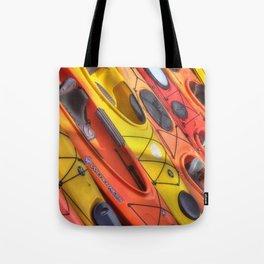 Kayak Art Tote Bag