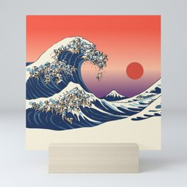 The Great Wave of Pug Mini Art Print