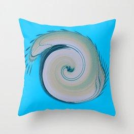 Blue Spira  Throw Pillow