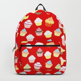 Dark Red Valentines Cup Cakes Backpack