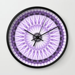 Purple Daisy Kaleidoscope Wall Clock