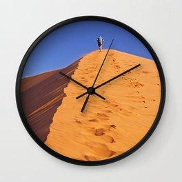 Walk the dune - Namibia Wall Clock