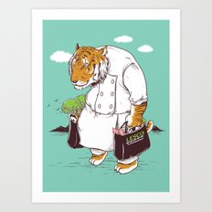 Kitchen Shopping Art Print