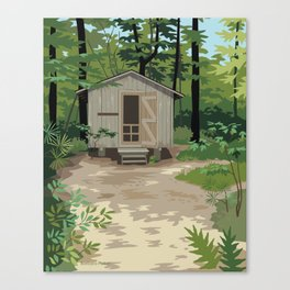 Pinewoods Cabin Canvas Print