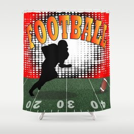 Football Tackle Shower Curtain