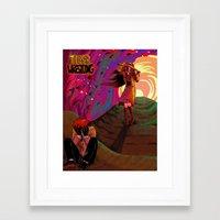 wrestling Framed Art Prints featuring Tiger Wrestling by Snarkington