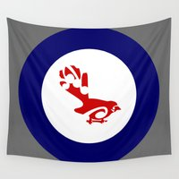 maori Wall Tapestries featuring Fantail Air Force Roundel by mailboxdisco