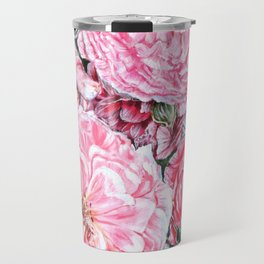 CELEBRATIONS - PEONIES GALORE- Original Fine art floral painting by HSIN LIN / HSIN LIN ART Travel Mug