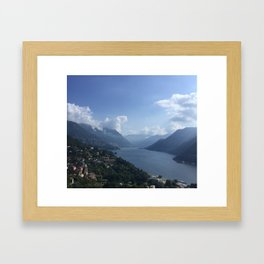 Serenity at Lake Como Framed Art Print