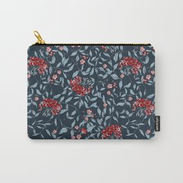Joan Print- in Be Strong Blue Carry-All Pouch