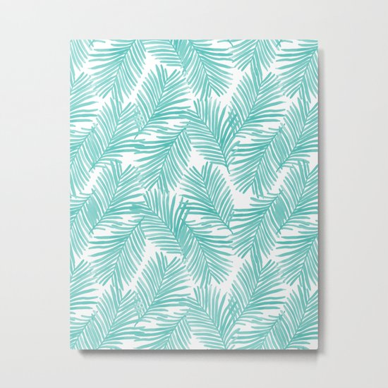 Palm tropical indoor house plants nature botanical vacation island summer surfing beach hipster Metal Print