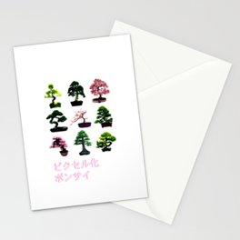 Pixelated Bonsai  Stationery Cards