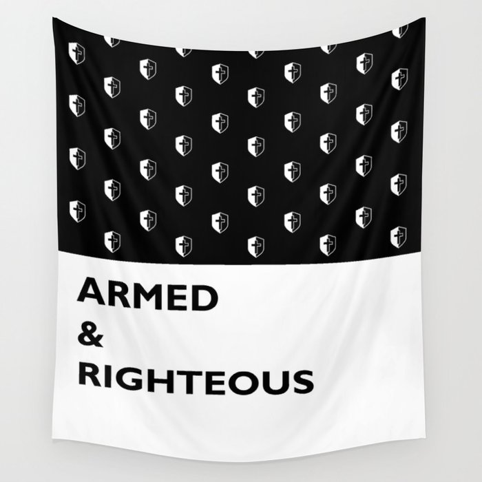 Armed & Righteous Wall Tapestry