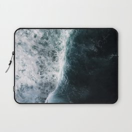 Oceanscape - White and Blue Laptop Sleeve