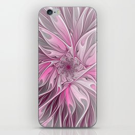 Abstract Pink Floral Dream iPhone Skin