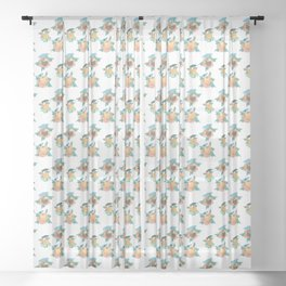 Tropical drinks mid-century style Sheer Curtain
