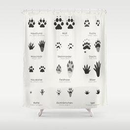 Spuren heimischer Tiere (Hidden Tracks) Shower Curtain
