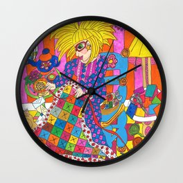 Quilting Calms My Nerves... Wall Clock
