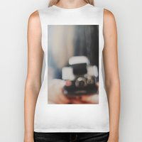 polaroid Biker Tanks featuring polaroid. by hilde.